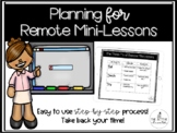 Remote Mini-Lessons Guide | Distance Learning