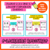 Remote learning Letter Formation Sheets ( Phase 2 , 3 , 4 and 5 sounds )