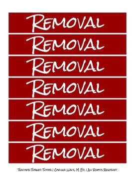 Removal Cards: Behavior Management: Behavior Intervention