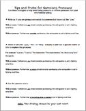 Removing Pronouns Mini-lesson