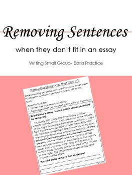 Removing Sentences from Writing