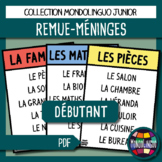 Vocabulary game in French/FFL/FLSL - Remue-méninges/Brains