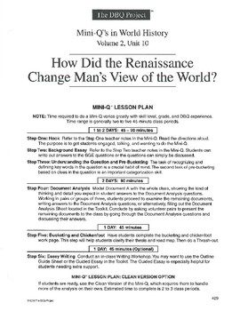 how did the renaissance change mans view of man essay
