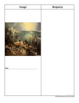 Renaissance Art Double-Entry Journal