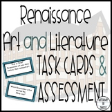Renaissance Art & Literature Task Cards & Assessment