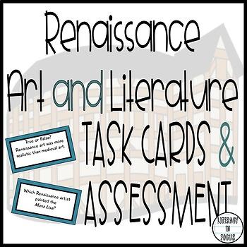 Renaissance Task Cards & Assessment (Shakespeare, Titian,