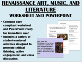 Renaissance Art, Music, and Literature Combo - Global/World History Common Core