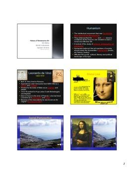 Renaissance Art PPT with Companion plus Homework and Video