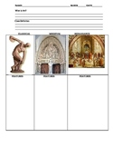 Renaissance Art Powerpoint- Classical vs. Middle Ages vs. Ren. Art WORKSHEETS