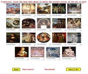 Renaissance Art Quiz- Bill Burton