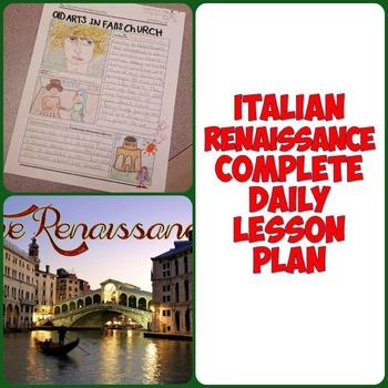 Renaissance Art and Literature Complete 1 Day Lesson Plan