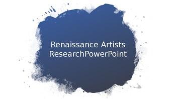 Renaissance Artist Project