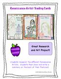 Renaissance Artist Trading Cards