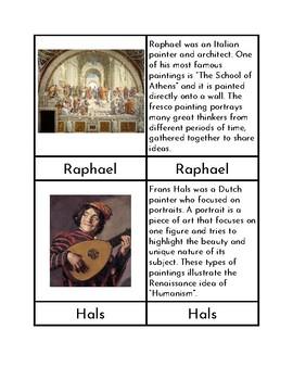 Renaissance Artists - Three/Four Part Cards