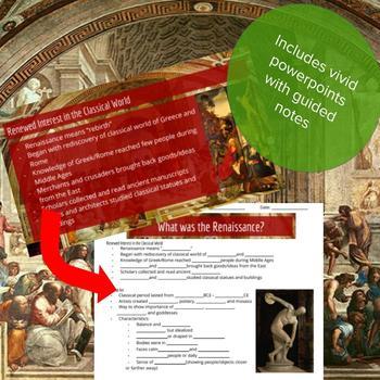 Renaissance Background - Lesson Bundle