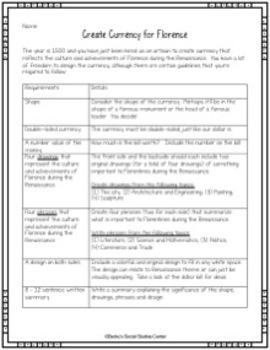 Renaissance Unit Bundle: 8 Activities and Projects