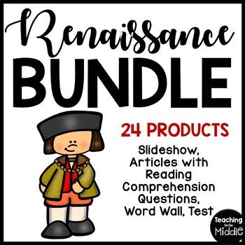Renaissance Bundle- Slideshow, Guided Notes, Reading Comprehension, DBQ