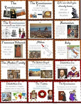 Renaissance Bundle- PowerPoint, Outline, Reading Comprehension, Test, DBQ
