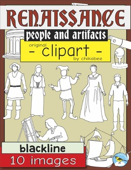 Renaissance Clip Art: People and Artifacts - BLACKLINE ONLY