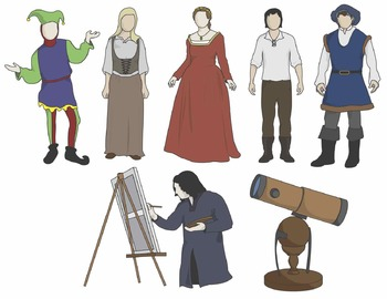 Renaissance Clip Art: People and Artifacts - COLOR ONLY