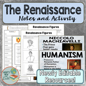 Renaissance Cloze Notes, PowerPoint, and Ticket out the Door