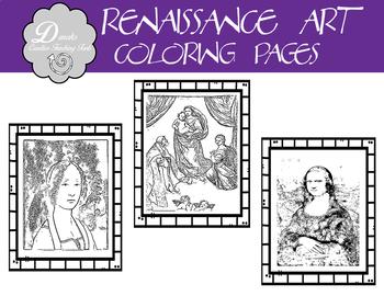 Renaissance Coloring Page Set