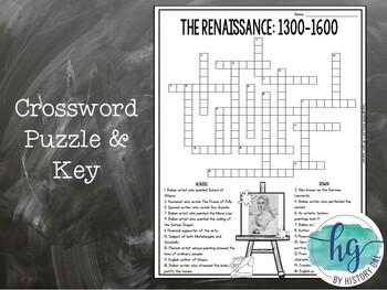 Renaissance Crossword Puzzle