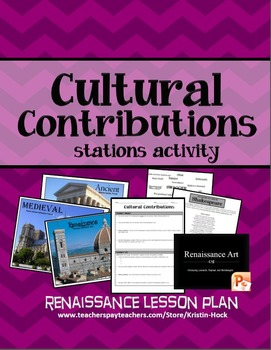 Renaissance - Cultural Contributions Stations
