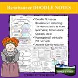 Renaissance DOODLE NOTES