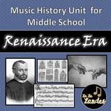 Renaissance Era History Unit for Middle School Music Class