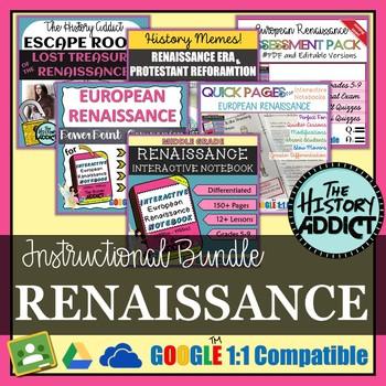 Renaissance Era Interactive Notebook Instructional Bundle