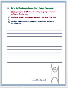 """Key Renaissance Ideas"" + Assessment"