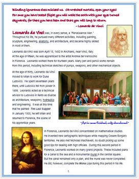 """Leonardo da Vinci"" + Assessment"