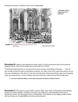 Reformation and the Wars of Religion Document Groupings