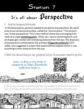 Renaissance Exploration and Creation Stations or Renaissance Activities