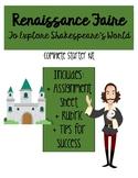 Renaissance Faire: To Explore Shakespeare's World