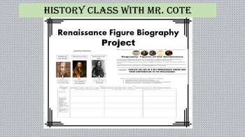 Renaissance Figure Biography Project