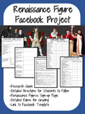 Renaissance Figure Facebook Project- All Steps, Research, No-Prep