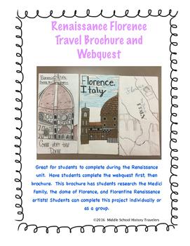 Renaissance Florence Travel Brochure and Webquest