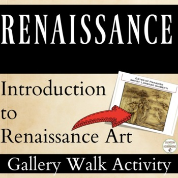 Renaissance Gallery Walk Activity to introduce art