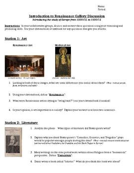 Renaissance Gallery Web Quest