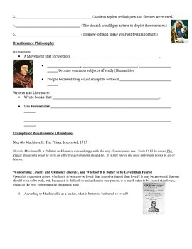Renaissance Guided Notes