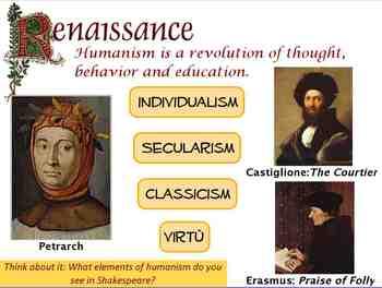 Renaissance Humanism Flipchart