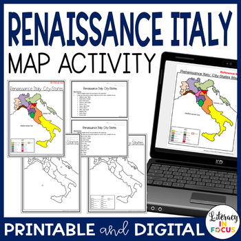 Renaissance italy city states map lesson and assessment by renaissance italy city states map lesson and assessment sciox Choice Image