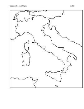 Renaissance Italy Map by Johnny S Teaching   Teachers Pay Teachers