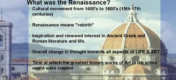 Italian & Northern Renaissance Lecture