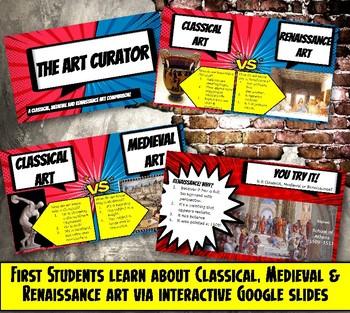 Renaissance, Medieval, Classical Art Comparison Activity & Virtual Field Trip