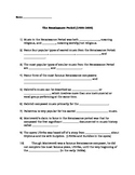 Renaissance Music Period Composers Worksheet: Gabrieli, Pa