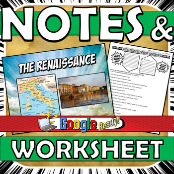 Renaissance Power Point with Graphic Organizer Notes Standard 7.8.1 & 7.8.2