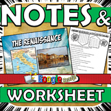Renaissance PowerPoint Notes with Worksheet or Graphic Organizer